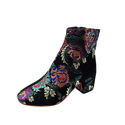 Winterschuhe Damen Stiefel Xinantime Schuhe Mädchen Low Heel Stiefel Schnürung Ankle Boot Schuhe Kurze Stiefel Komfortable Rutschfeste Schule