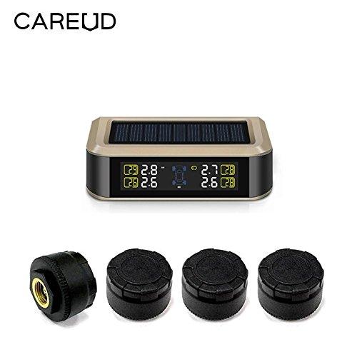 Auto-TPMS-System eingebaute Lithium-Batterie USB-Leitung Lade-Solar-Dual-Power-Reifen-Druck-Monitor