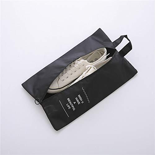 JiHong Wasserfeste Schuhbeutel Reise, Koffer, Gepäck - Schmutzabweisender Schuhsack Reise für Schuhe, Urlaub Shoebag Tasche zur Trennung von Schuhen und Kleidung Reisezubehör,1