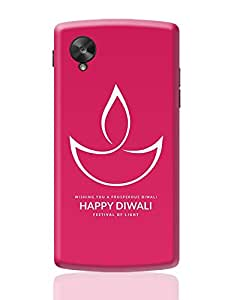 PosterGuy Google Nexus 5 Case Cover - Happy Diwali with Pink Background   Designed by: Codeburnerz Technologies