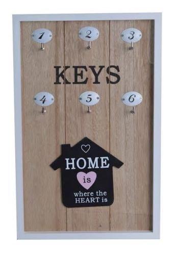 In legno stile Shabby Chic chiave Pannello Portaoggetti da appendere tasti display casa (Pannello Cupboard)