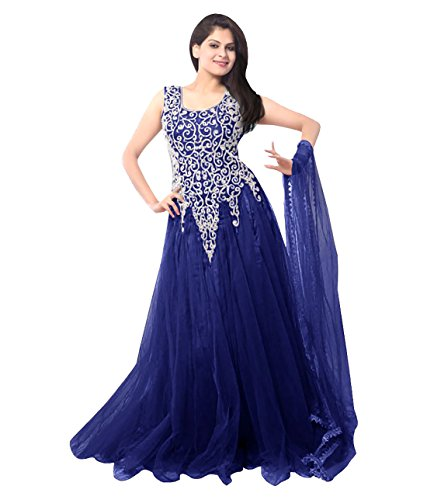 KFHub Women's New Low Price Below 500 rupees Collection Anarkali Gowns Blue...