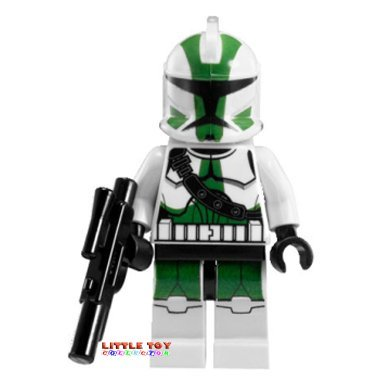 CLONE COMMANDER GREE - LEGO Star Wars Minifigure & Weapon