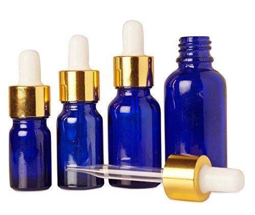 6 pièces vide cobalt œil de verre bleu flacons compte-gouttes aromathérapie gros huiles essentielles bouteilles de pipettes de sérum rechargeable 15 ml de bouteilles d'abandon
