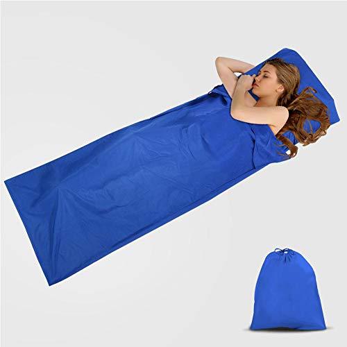 Pincou cotone sacco lenzuolo, ultraleggero sacco a pelo fodera, portatile sleeping bag liner, travel sheet, confortevole per viaggio albergo, treno, campeggio, sacco da letto singolo