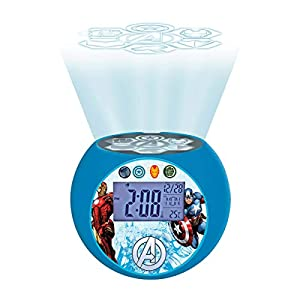 Lexibook - Despertador Digital, Azul (Los Vengadores)