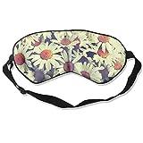 Schlafmaske Augenmaske Vintage Blume Malerei Soft Eyeshade Augenbinde mit verstellbarem Gurt für Schlaf Reise 3,54'x 8,27'