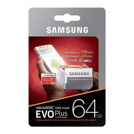 Samsung EVO Plus Micro SDXC Memory Card (100MB/s, White and Red)