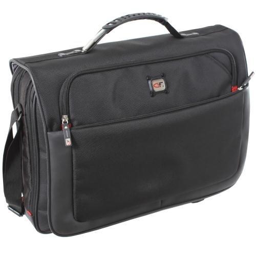 Gino Ferrari Titan Laptop-Kuriertasche (43,2cm / 17 Zoll), Schwarz