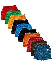 Esteem Boys Innerwear Striped Trunk Drawer Briefs (Pack of 10)