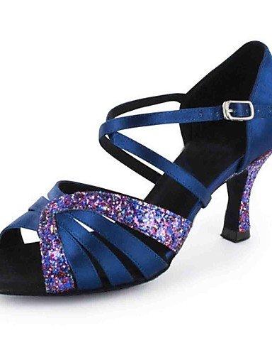 La mode moderne Sandales femmes personnalisables Chaussures de danse en similicuir similicuir sandales talon d'Amérique latine sur mesure de performance professionnelle débutant pratique Black