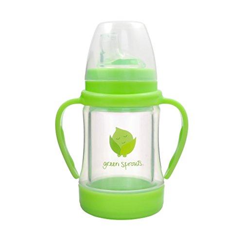 Green Sprouts 124900-500-26 Sip 'n Straw Glasflasche mit Trinkhalm, ab 6 Monate, grün Ab Glas