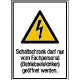 Schaltschrank darf nur von Fachpersonal Warnschild, selbstklebende ,13,10x18,50cm