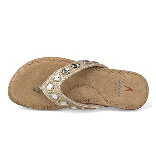 WANGXN Womens Flip-Flops Sandales de plage Chaussons décontractés Mode Protection de l'environnement 8255 gold