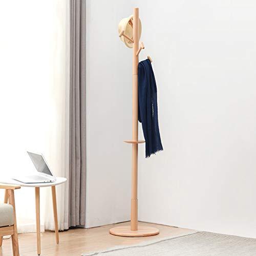QARYYQ Haushalt Einfache Aufhänger Boden Schlafzimmer Hammer Form Haken Massivholz Log Farbe Jacke 180x40 cm Garderobe -