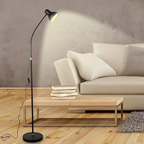 LED-Lesestehlampe, Energiesparende Beleuchtung In Schwarz, Verstellbarer Schwanenhals, Hohes Büro Geht Über Schreibtisch-Standlicht, Natürliches Tageslicht Mit Vollem Spektrum, Standlicht Für Handwerk -