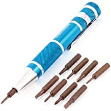 10-in-1 Dodger azul con forma de lápiz mango imán punta Torx juego de puntas de destornillador Tri-Wing