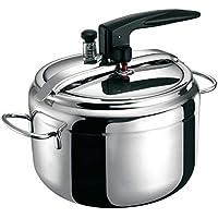 Aeternum Easy Chef, Pentola a Pressione da 5 Litri con Valvola di Sicurezza, Acciaio Inox, Adatta all'induzione, Inossidabile, Argento, 22 cm