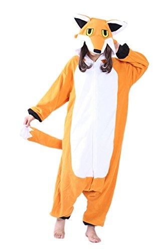 dressfan Pijamas de Animales Zorro Disfraces de Cosplay Adulto Unisex Zorro Pijamas Niño Adulto