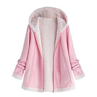 YIHANK Women's Hoodie Coat,Fashion Winter Pocket Zipper Long Sleeve PlushGet Up App Local at Space Burlington Biker Awlgrip Wiki Guys Bed Drop Locations Inc Oven Pink