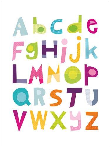 Unbekannt Alu Dibond 30 x 40 cm: ABC Alphabet von Jaysanstudio