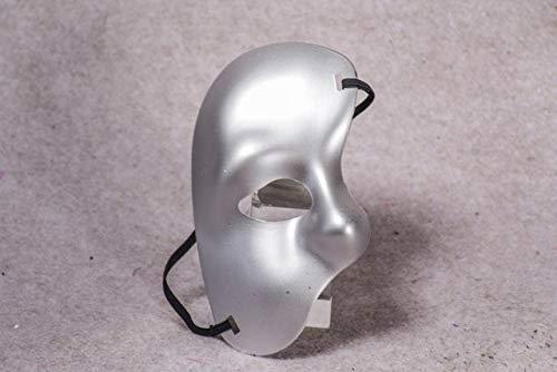 Fancy Phantom Oper Dress Kostüm Der - TWELVEMJ Gold Silber Phantom der Oper Venezianische Maskerade Party Auge Theater Halbe Gesichtsmaske Für Halloween Cosplay Kostüm, Silber