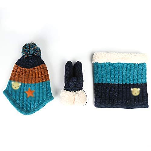 aa61a12816a6d GANTS Xia Enfant Hiver Costume Chapeau écharpe Doux Confortable (Couleur :  D)