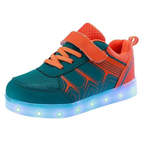 (Present:kleines Handtuch)JUNGLEST® 7 Farbe USB Aufladen LED Leuchtend Sport Schuhe Sportschuhe High Top Sneaker Turnschuhe für Unisex-Erwa c38