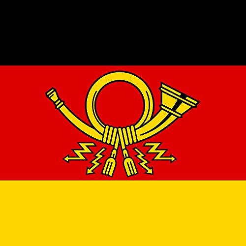 magFlags Flagge: XL An Dienstkraftwagen des Bundesministers für das Post- und Fernmeldewesen | Fahne 2.16m² | 150x150cm » Fahne 100% Made in Germany