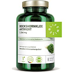 LifeWize Bockshornklee Kapseln Aktiviert - 2.264 mg Bockshornkleesamen (Fenugreek) - 180 Kapseln - Hochdosiert, Vegan & Ohne Zusatzstoffe