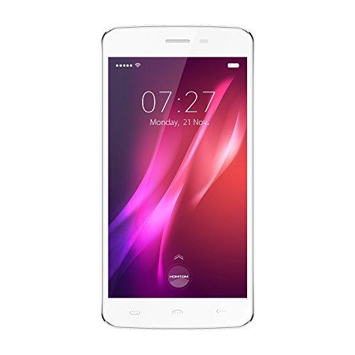 "Preisvergleich Produktbild HOMTOM HT27 3G Phablet Smartphone,  5, 5"" Android 6.0 Quad Core 1GB+8GB 8.0MP+5.0MP Dual Kamera Dual SIM GPS Bluetooth Fingerabdruck Sensor Entsperrt Handy,  Weiß"