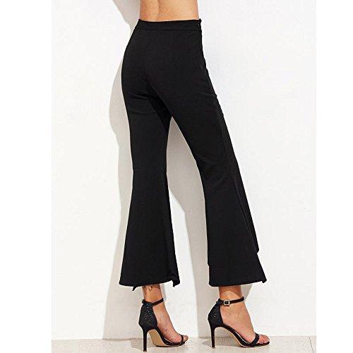 0c0a327d6b4640 Topgrowth Pantaloni Donna Eleganti Slim Fit Pantalone a Zampa Elastico  Irregolare Ufficio Casual Chiffon Pantaloni Crop