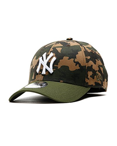 New Era Herren Caps / Flexfitted Cap Camo Team Stretch NY Yankees 39Thirty Cap camouflage L/XL (Flag Camo)