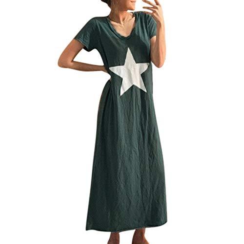 Damen Kleider Strandkleider Frauen Sommer Minikleid Gestreift äRmelloses Sommermode Reizvolle Schulterkleid Skaterkleid Kleid - ärmel Lange 2x