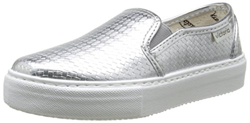 Victoria Slip On Tej Trenza Metalizado, Baskets mode mixte adulte Argent (14 Plata)