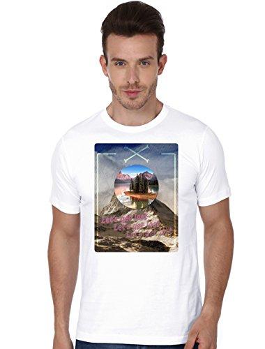 Beyond Colours Men T-Shirt Nature Calls White Small