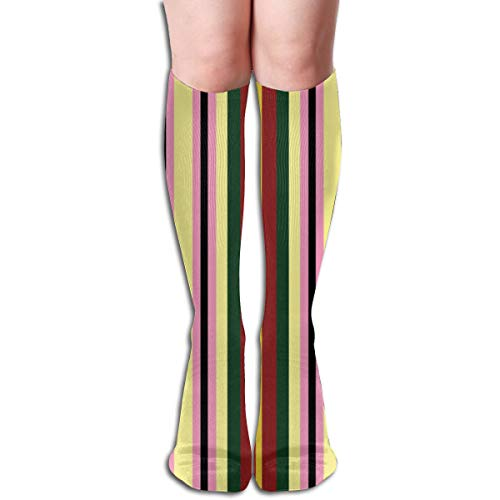 Women's Fancy Design Stocking Kawaii Sushi Coordinating Stripe Multi Colorful Patterned Knee High Socks 19.6 Inchs - Stripe Womens Tank