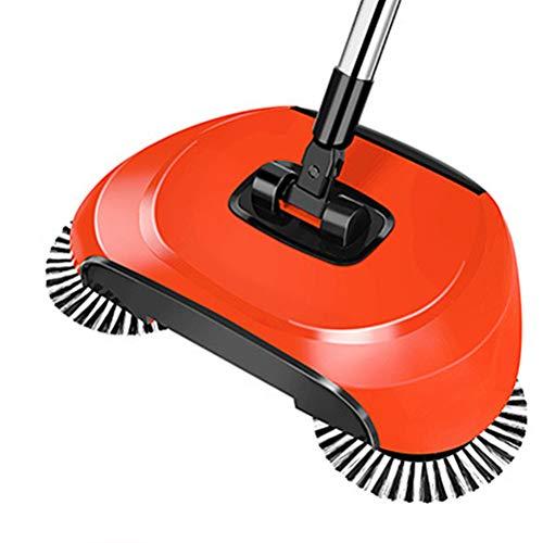 Surenhap Hand Push Handkehrmaschine Magic Broom Dustpan mit Stainless Steel Sweeping Broom Handle Household Cleaning Sweeper Mop - Sie Edelstahl Unten Biegen Nach