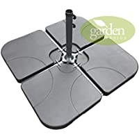 SET OF FOUR WEIGHTS - PARASOL BASE STAND WEIGHTS FOR BANANA HANGING AND CANTILEVER UMBRELLA PARASOLS