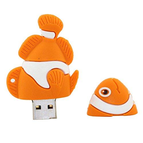 16gb pesce arancione modello usb flash drive usb pendrive pen drive usb esterni di memoria flash disk usb chiavetta, chiavetta u disco