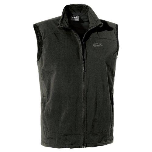 hundeinfo24.de Jack Wolfskin Herren Softshellweste Activate Vest, Black, XL, 1302331-6000005