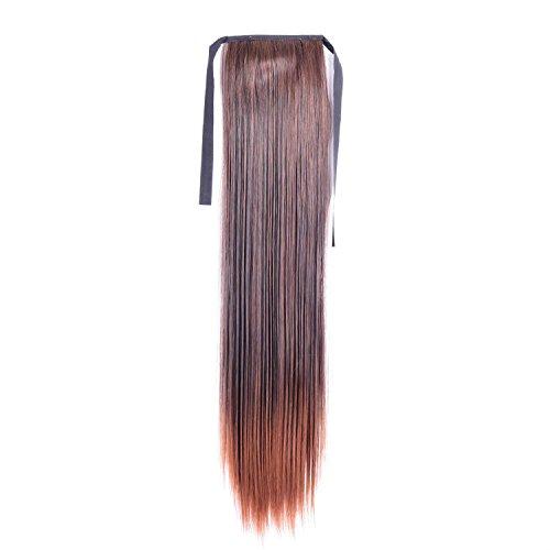 lovenea TM Miss Ava Amerika und Europa Fashion Girl Haarteil 55,9cm 55cm gerade Band Pferdeschwanz Pony Schwanz Lady Haar Verlängerung versandkostenfrei