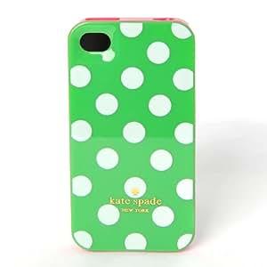 Kate Spade Étui Housse de Protection Coque Rigide pour Apple iPhone 4 4S à Pois Vert