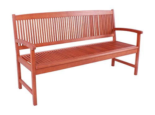 Gravidus gemütliche Gartenbank aus Eukalyptusholz, 3-Sitzer