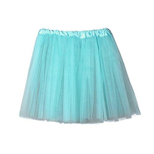 Damen Röcke, VEMOW Frauen Ballett Tutu Layered Organza Spitze Prom Mini Rock(X1-Hellblau, Einheitsgröße)
