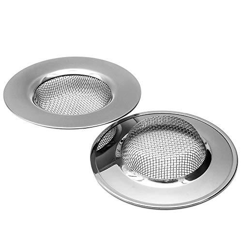 YOFASEN Abflußsieb Rostfreier Edelstahl - Kuche Waschbecken Abflußsieb - Badwanne Dusche Haarfänger Abflusssieb, Style 01 Durchmesser - 78mm