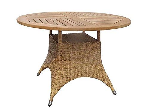 Savannah Tisch Ø110cm Alu/Geflecht Honig