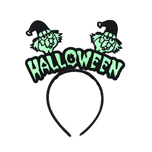 BESTOYARD Halloween Haarband für Damen und Herren, grüne Hexe