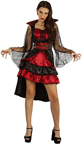U LOOK UGLY TODAY Halloween Kostüm Damen Vampir Sexy Spitze Kleid Cosplay Karneval Abendkleid Verkleidungsparty Dress Up- S/M - ()