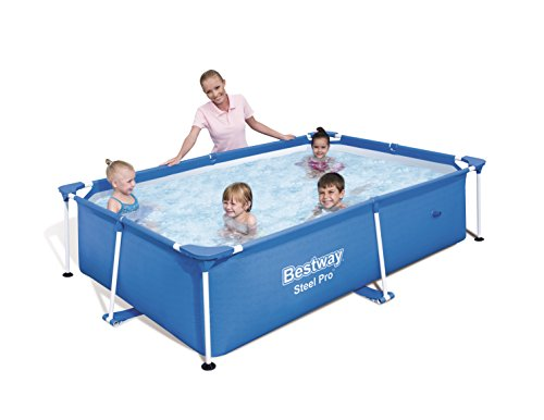 Bestway 8321258 - Piscina infantil rectangular, 239 x 150 x 58 cm
